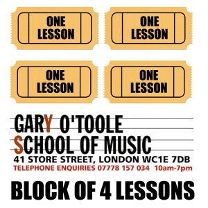 Block of 4 Music Lessons